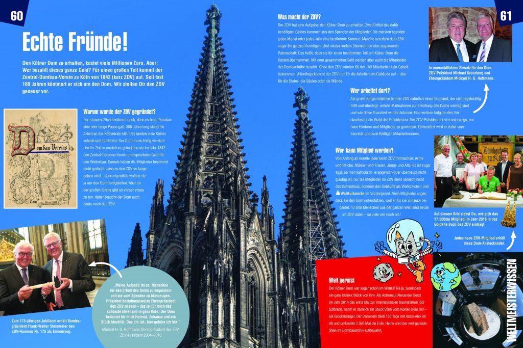 Innenseiten 60+61 des Kindersachbuchs Kölner Dom - Wie geht das?s